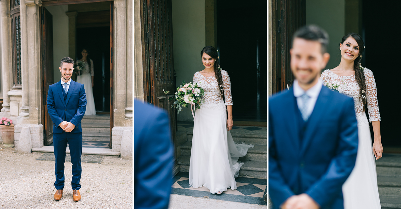 First Look au Chateau d'Anjou en isere Photographe de Mariage a Grenoble et Provence Photo de Couple Amoureux