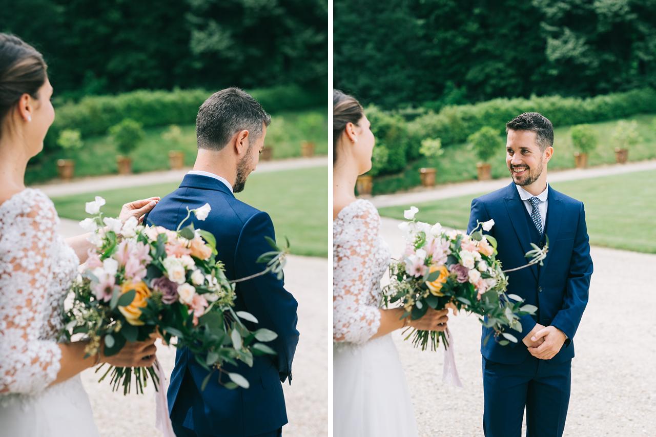 First Look et Découverte au Chateau d'Anjou en isere Photographe de Mariage a Grenoble et Provence Photo de Couple Amoureux