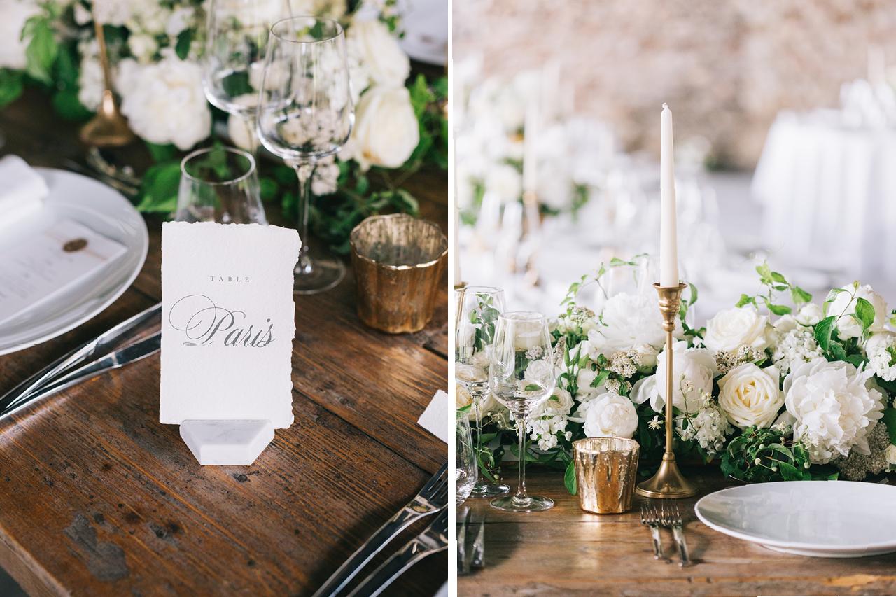 Table d'Honneur Mariage Provence Déco florale mariage Un mariage aux domaines de patras détails des décorations sur table photographe mariage en provence dans la drome yeter kurt photography et fleurs de fée