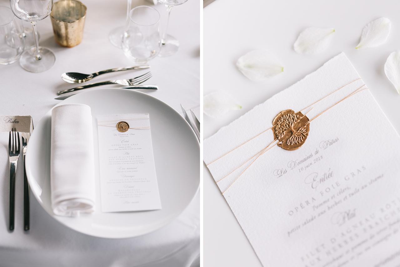 Bouquets de mariée, accessoires, décoration Détails mariage aux domaines de patras menu avec écriture calligraphique épurée fine art photography yeter kurt