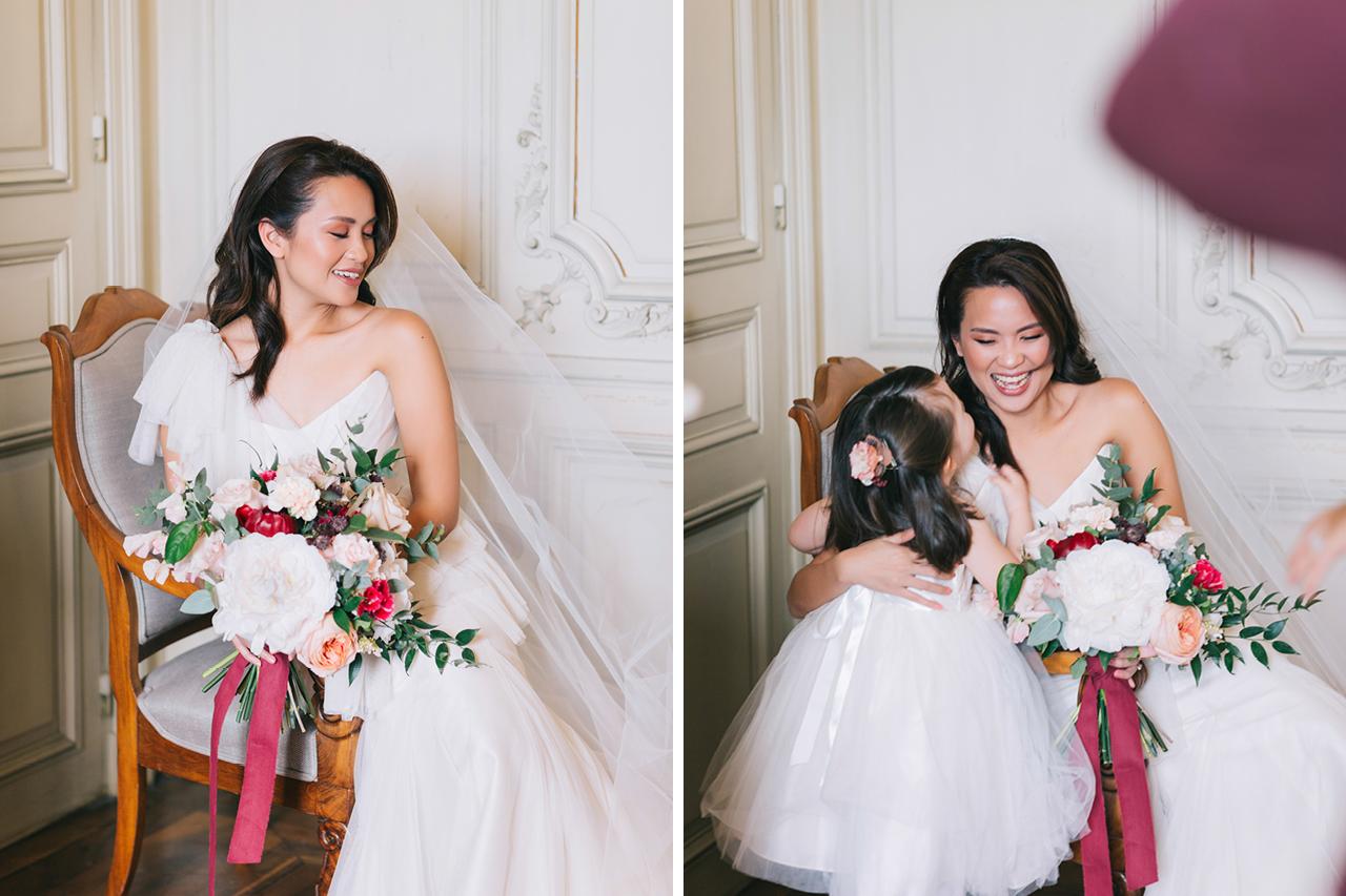 une sublime mariée au château de varennes en france