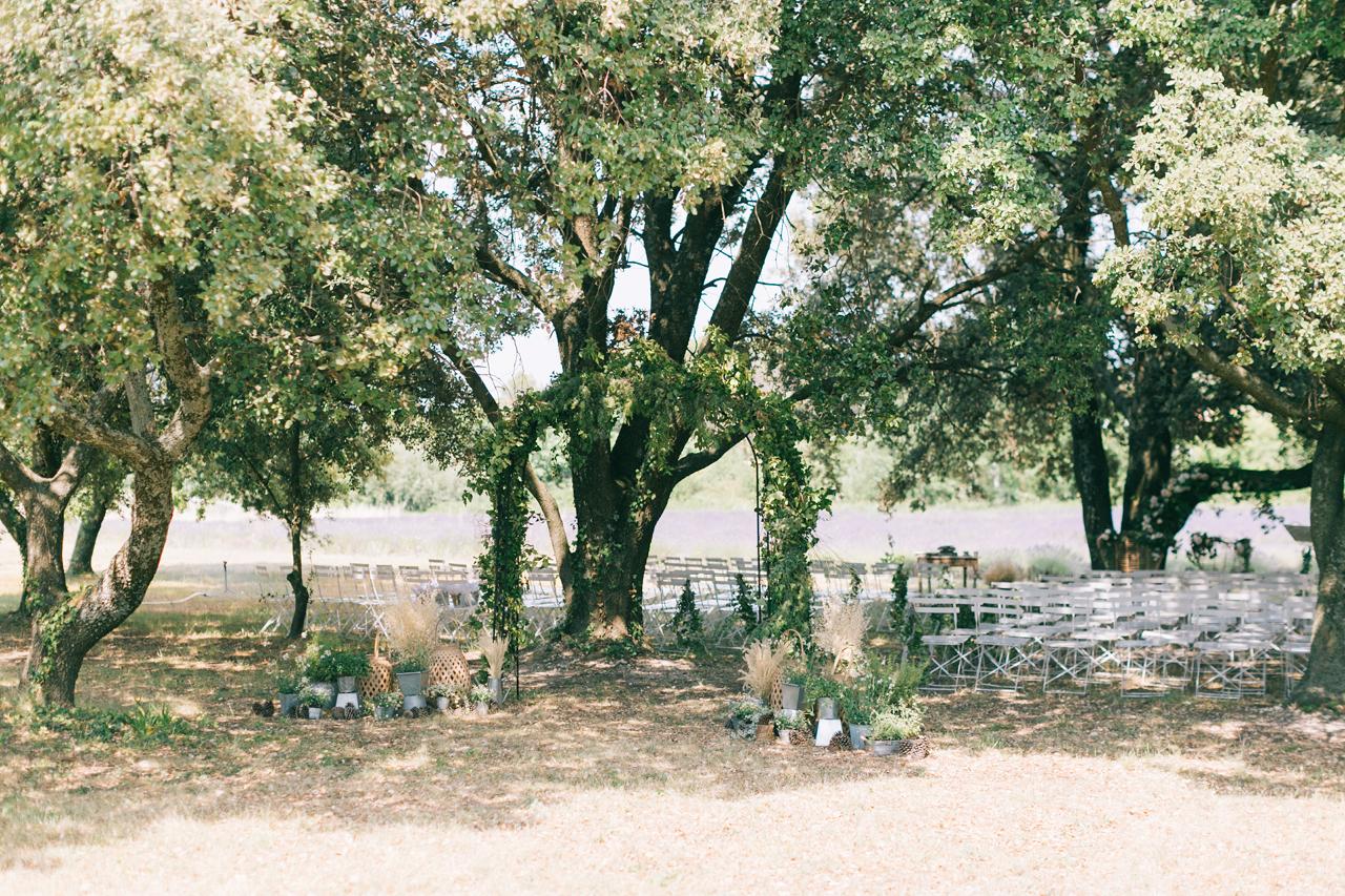 Cérémonie laïque sous les Arbres aux Domaine de Patras en Juin 2019