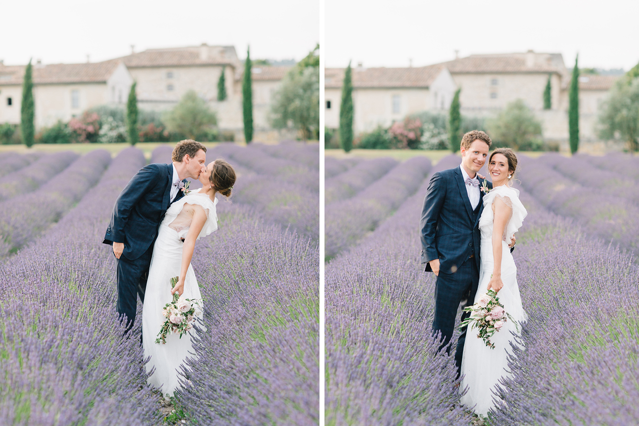 Photo de couple aux Domaine de Patras dans la Lavande en Provence