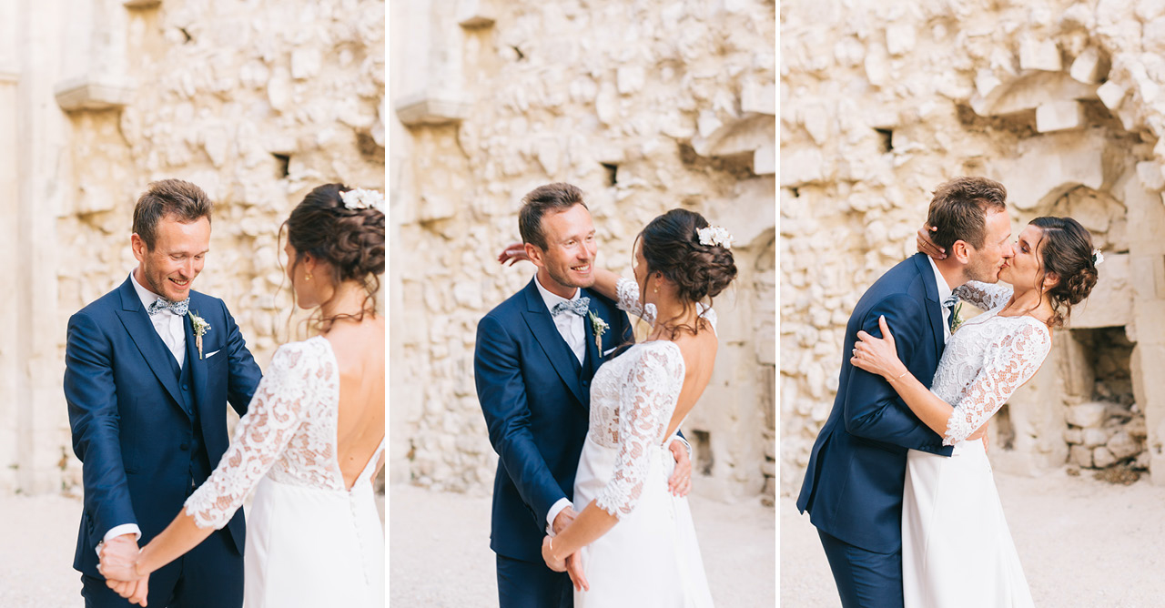First Look Wedding Bride and Groom Domaine de SARSON
