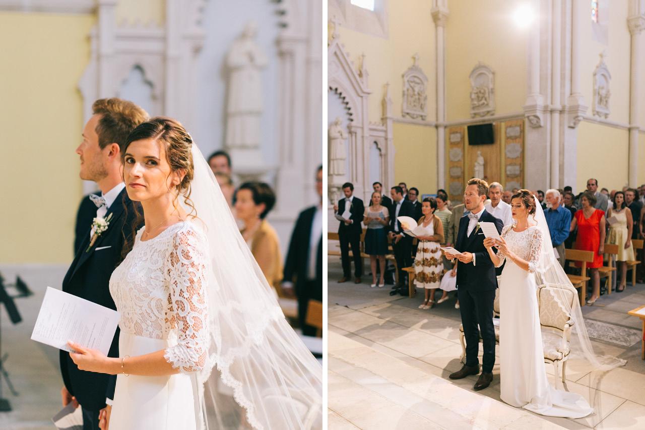 Mariage religieux au Sanctuaire saint joseph de Roussas dans la Drôme Provençale Robe mariée Victoire Vermeulen