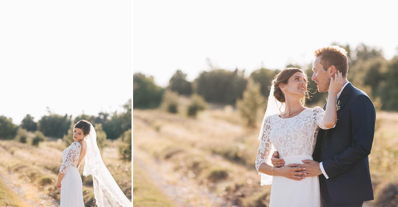 Le Domaine de Sarson Robe de mariée Victoire Vermeulen et Costume Marié Scabal