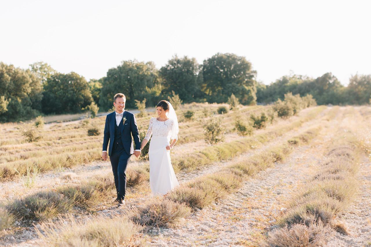Magnifique photo de couple au domaine de sarson dans la drome provencale