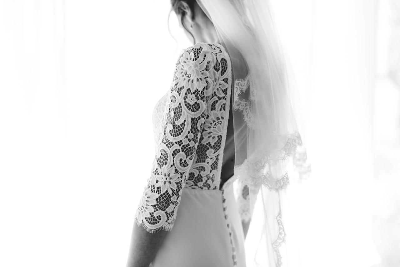 Photo Noir et Blanc sur mesure Victoire Vermeulen mariage au Domaine de Sarson