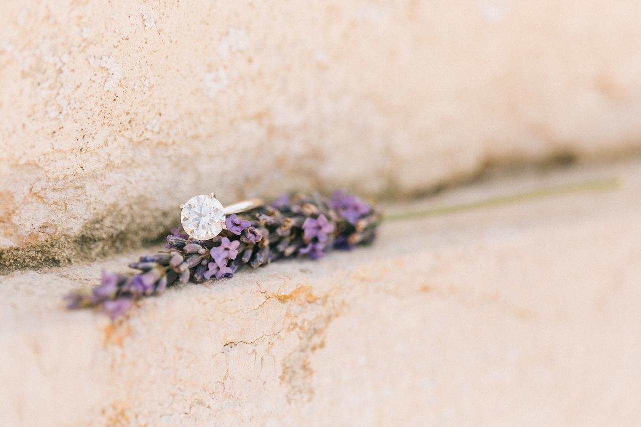 Bague de fiancailles en Diamant Solitaire en Diamant Weeding Chateau de Varennes