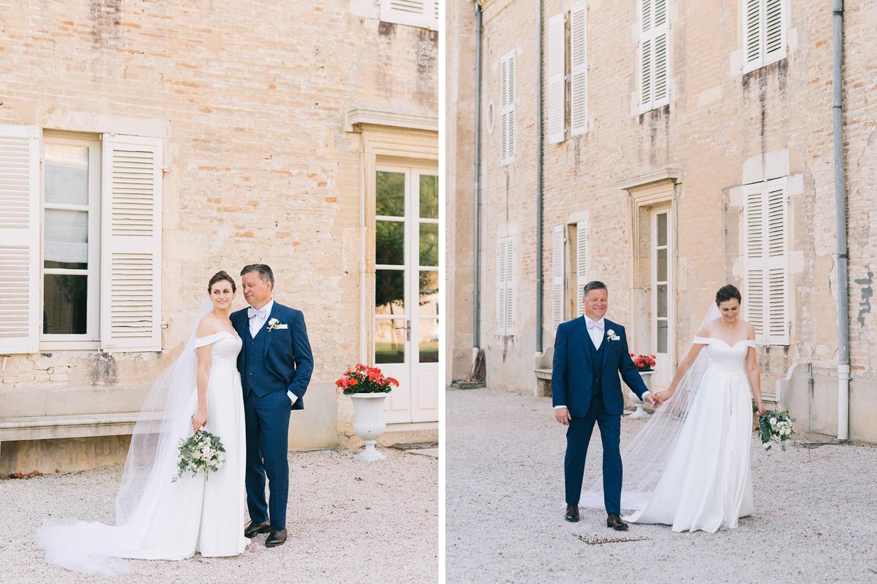 Photo de Couple Mariage au Chateau de Varennes en Bourgogne
