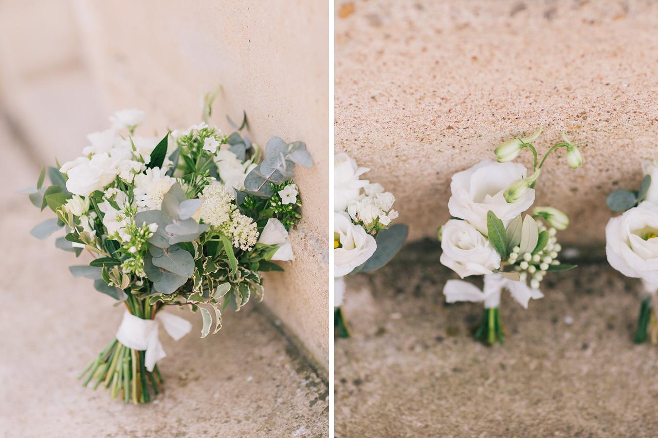 Bouquet de Fleurs Mariée Mariage au Chateau de Varennes