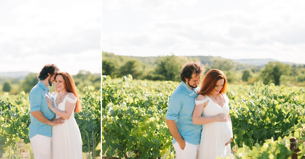 séance photo grossesse dans les vignes en provence, photographe provence