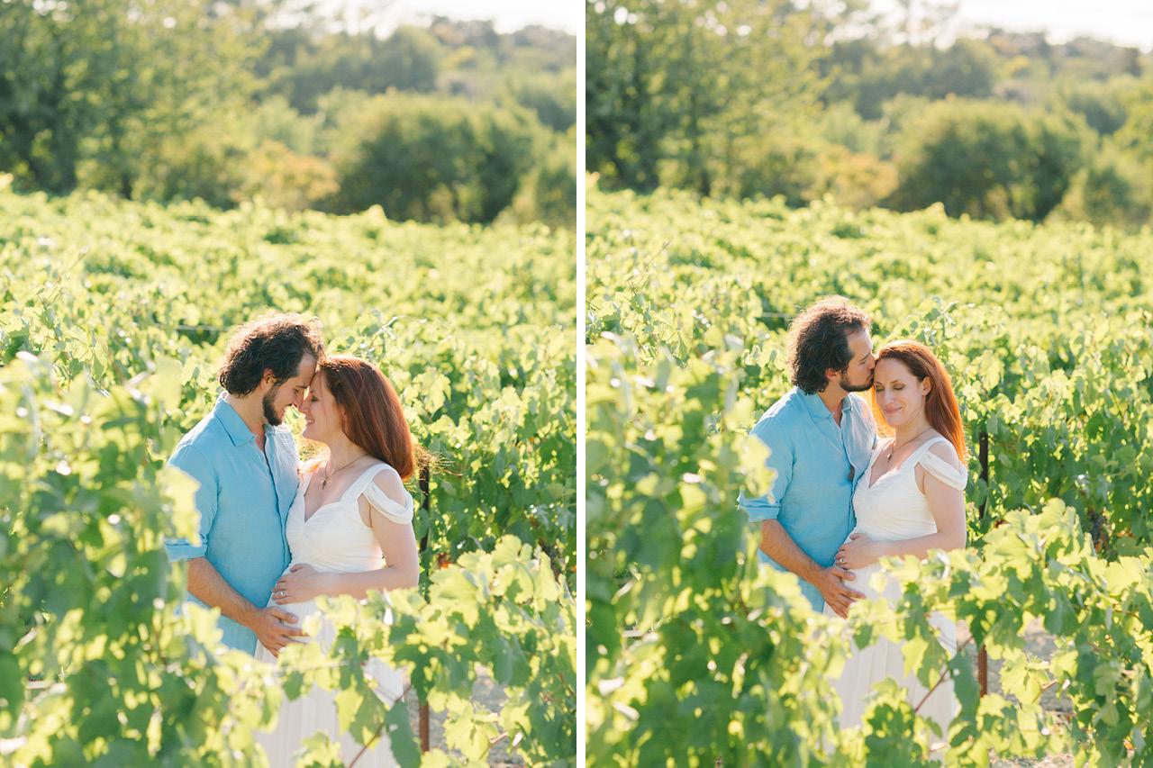 séance photo grossesse dans les vignes en provence, photographe grossesse grenoble