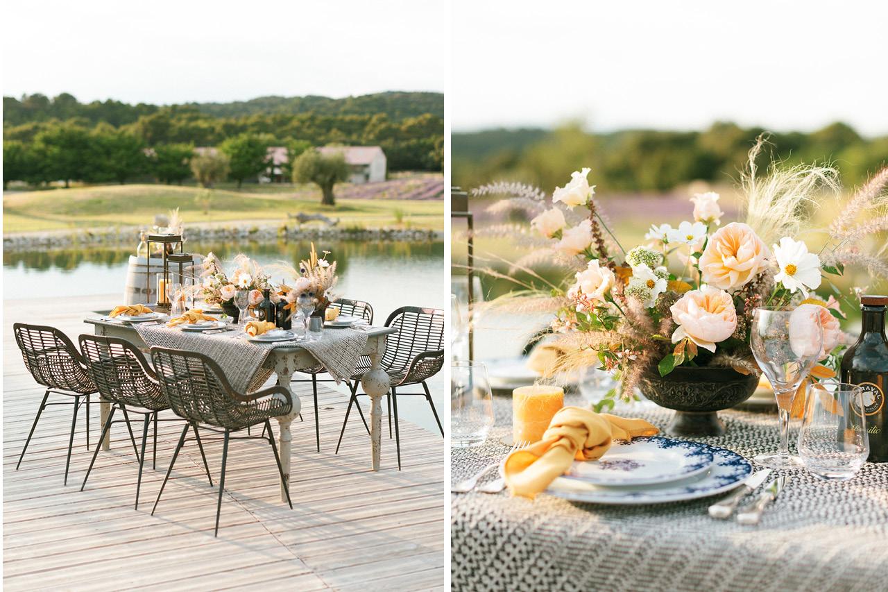 Décoration de table en provence, Décoration floral Fleurs de Fée, Mariage Fleurs de fée, Shooting Les Domaines de Patras, Shooting Greg Finck